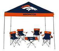 Denver Broncos Tailgate Kit - Canopy - 4 Chairs - Table