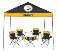 Pittsburch Steelers Tailgate Kit - Canopy - 4 Chairs - Table