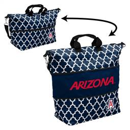 Arizona Quatrefoil Expandable Tote