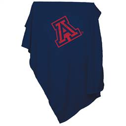 University of Arizona Wildcats Sweatshirt Blanket Screened Print