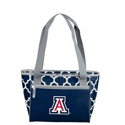 University of Arizona Wildcats Quatrefoil 16 Can Cooler Tote 83 - 16 Cooler Tote
