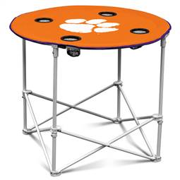 Clemson University Tigers Round Folding Table with Carry Bag