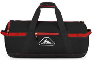 "High Sierra Packed Cargo Duffels 20"" XS Packed Cargo Duffel Black/Crimson"