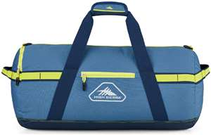 "High Sierra Packed Cargo Duffels 24"" S Packed Cargo Duffel Graphite Blue/Rustic Blue/Glow"