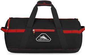 "High Sierra Packed Cargo Duffels 36"" L Packed Cargo Duffel Black/Crimson"