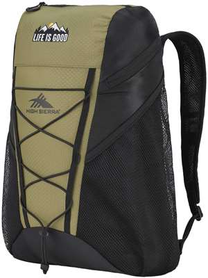 High Sierra Life Is Good Pack N Go Backpack LIG FATIGUE GREEN/BLACK