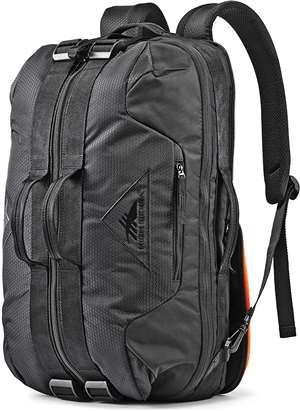 High Sierra Dells Canyon CONVERTIBLE DUFFEL BLACK/BLACK