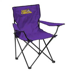 East Carolina University Pirates Quad Folding Chair with Carry Bag