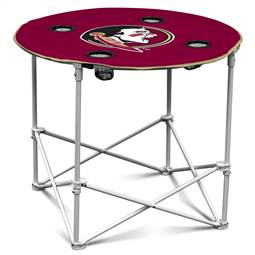 Florida State University Seminoles Round Folding Table with Carry Bag