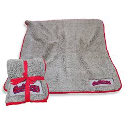 "Fresno State University Bulldogs Frosty Fleece Blanket 60"" X 50"""