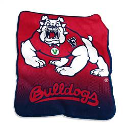 Fresno State University Bulldogs Raschel Throw Blanket