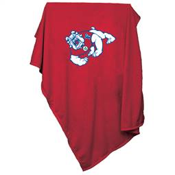 Fresno State University Bulldogs Sweatshirt Blanket