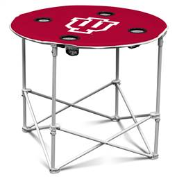 University of Indiana Hoosiers Round Folding Table with Carry Bag