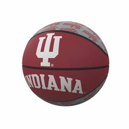 Indiana Repeating Logo Mini-Size Rubber Basketball