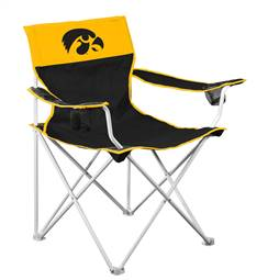 Iowa Hawkeyes Big Boy Folding Chair with Carry Bag