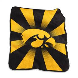 University of Iowa Hawkeyes Raschel Throw Blanket