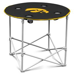 University of Iowa Hawkeyes Round Folding Table with Carry Bag