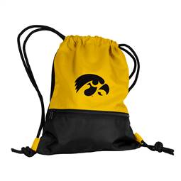 University of Iowa Hawkeyes String Pack Tote Bag Backpack Carry Case