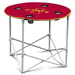 Iowa State University Cyclones Round Folding Table with Carry Bag