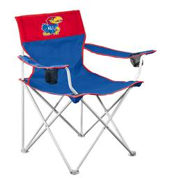 University of Kansas Jayhawks Big Boy Folding Chair with Carry Bag