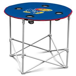University of Kansas Jayhawks Round Folding Table with Carry Bag