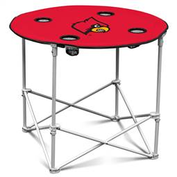University of Louisville Cardinalss Round Folding Table with Carry Bag