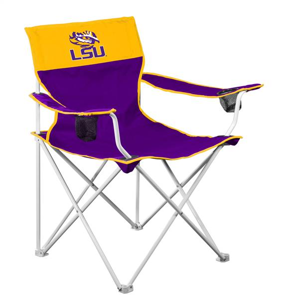 LSU Tigers Big Boy Folding Chair with Carry Bag
