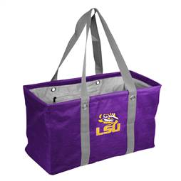 LSU Louisiana State University Tigers Crosshatch Picnic Tailgate Caddy Tote Bag