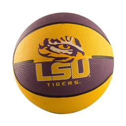 LSU Louisiana State University Mini-Size Rubber Basketball