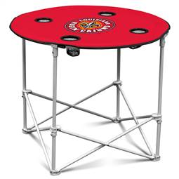 University of Louisiana Lafayette Ragin Cagins  Round Table Folding Tailgate Camping