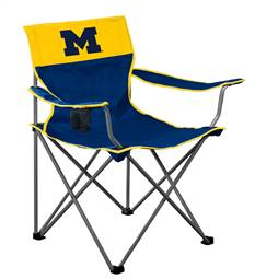 Michigan Wolverines Big Boy Folding Chair with Carry Bag