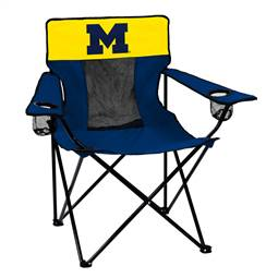 University of Michigan Wolverines Elite Folding Chair with Carry Bag