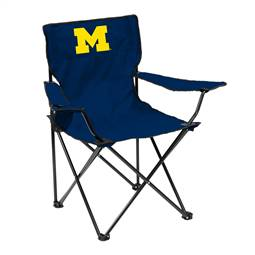University of Michigan Wolverines Quad Folding Chair with Carry Bag
