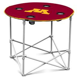 University of Minnesota Golden Gophers  Round Table Folding Tailgate Camping