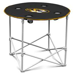 University of Missouri Tigers Round Folding Table with Carry Bag
