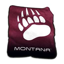 University of Montana Raschel Throw Blanket