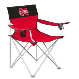 Nebraska Cornhuskers Big Boy Folding Chair with Carry Bag