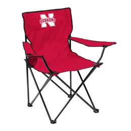 University of Nebraska Corn Huskers Quad Folding Chair with Carry Bag