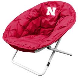 University of Nebraska Cornhuskers Sphere Chair - Folding Dorm Room Tailgate