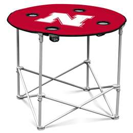 University of Nebraska Corn Huskers Round Folding Table with Carry Bag