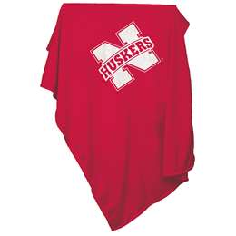 University of Nebraska Corn Huskers Sweatshirt Blanket 74 -Sweatshirt Blnkt