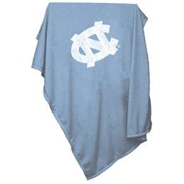 University of North Carolina Tar Heels Sweatshirt Blanket Screened Print