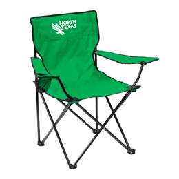 North Texas State University Mean Green Quad Chair - Tailgate Camping Folding