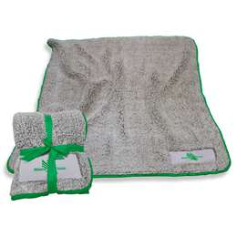 "North Texas State University Mean Green Frosty Fleece Blanket 60"" X 50"""