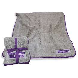 "Northwestern University Wildcats Frosty Fleece Blanket 60"" X 50"""