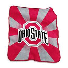 Ohio State University Buckeyes Raschel Throw Blanket