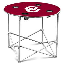 University of Oklahoma Sooners Round Folding Table with Carry Bag