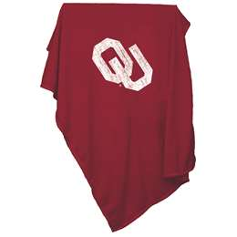 University of Oklahoma Sooners Sweatshirt Blanket Screened Print
