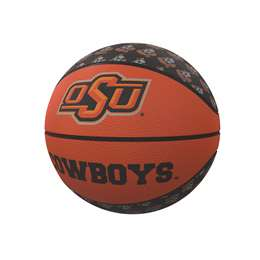 Oklahoma State University Cowboys Repeating Logo Mini-Size Rubber Basketball 91MR- MS Rubber BB