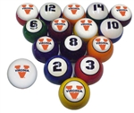 Virginia NCAA Collegiate Billiard Pool Ball Sets